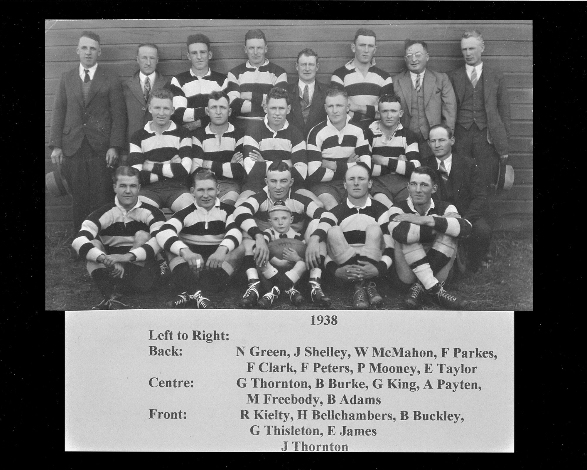1938 Nimmitabel clayton cup winners