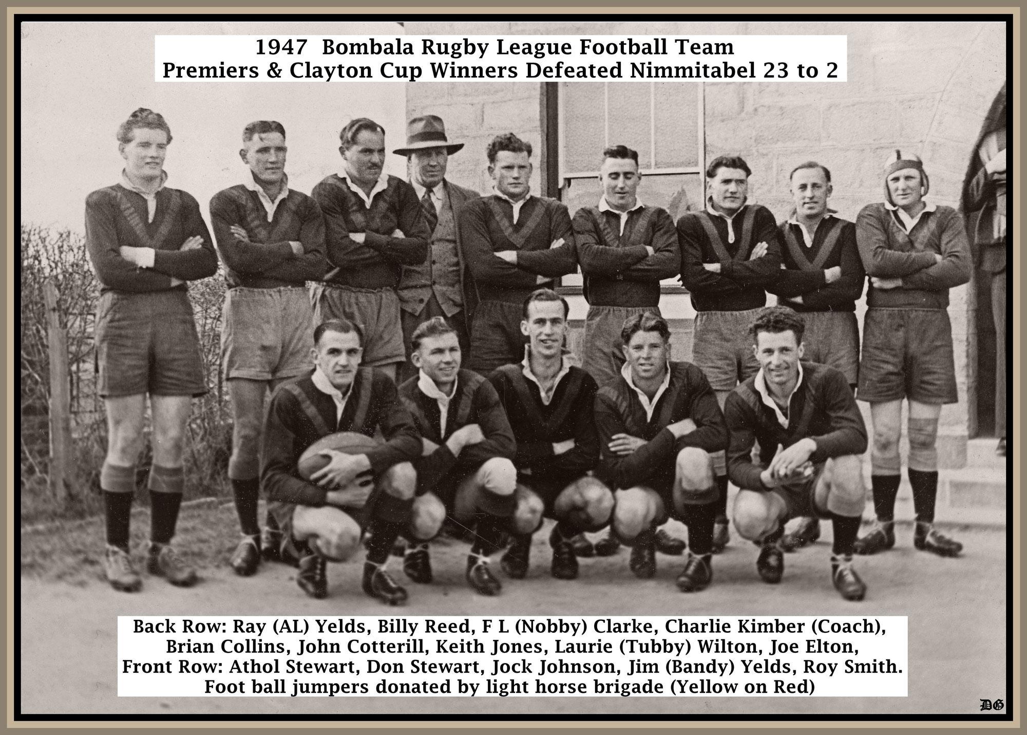 1947 Bombala clayton cup winners