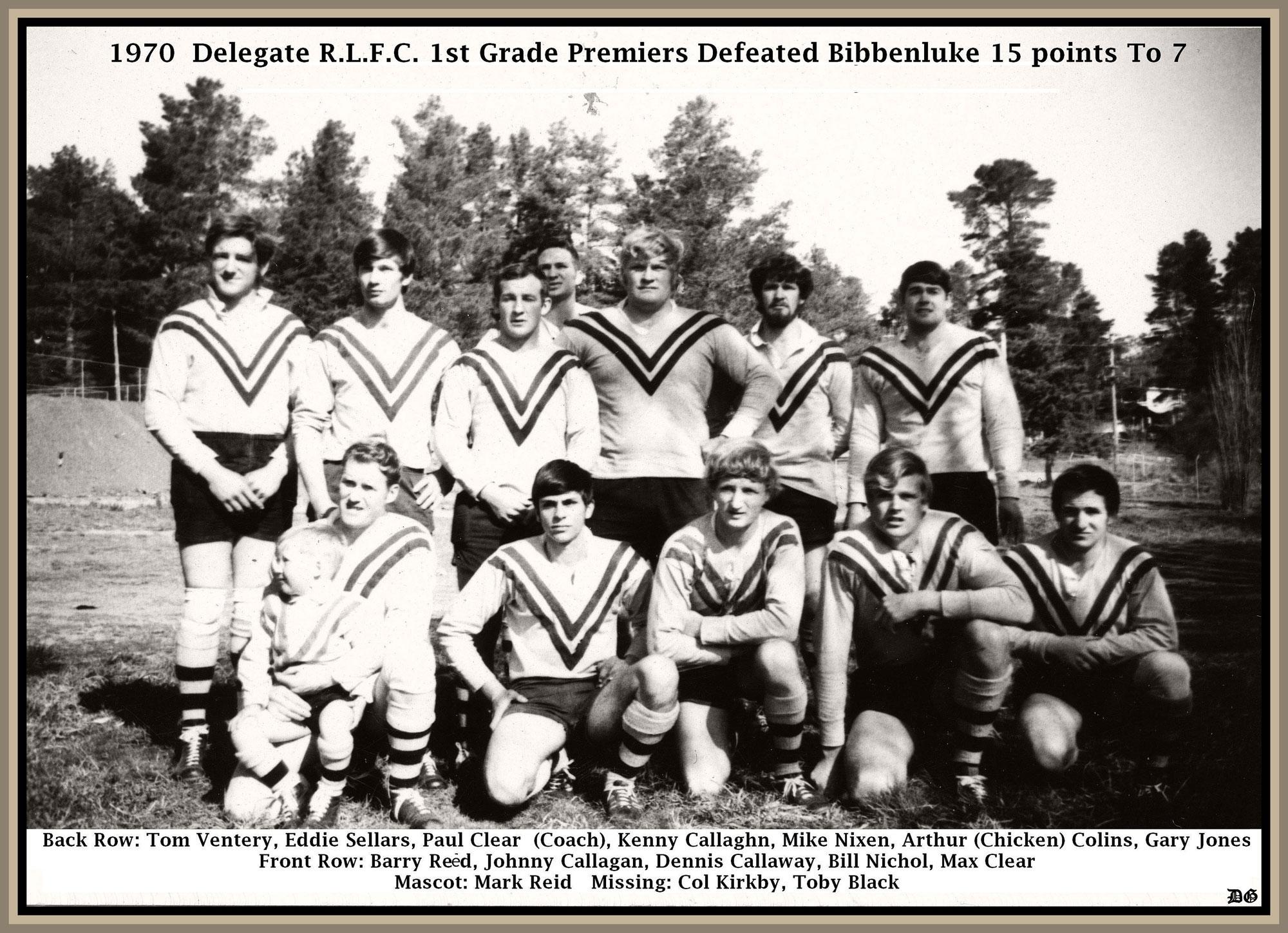 1970 Delegate clayton cup winners