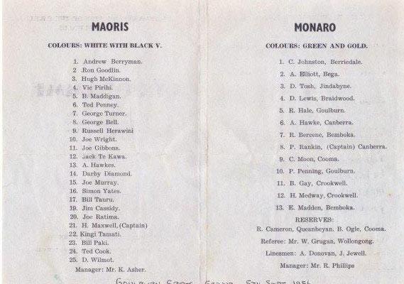 monaro v maoris 1956